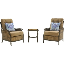 Hudson Square 3PC Chat Set - HUDSONSQ3PC