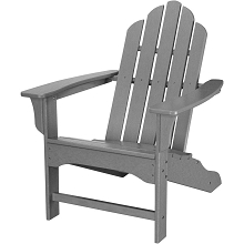 All-Weather Contoured Adirondack Chair in Grey - HVLNA10GY