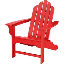 All-Weather Contoured Adirondack Chair in Sunset Red - HVLNA10SR