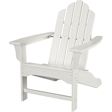All-Weather Contoured Adirondack Chair in White - HVLNA10WH