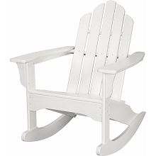 All-Weather Adirondack Rocking Chair in White - HVLNR10WH