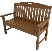Avalon All-Weather 48 In. Porch Bench in Teak - HVNB48TE