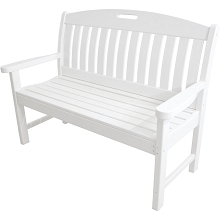 Avalon All-Weather 48 In. Porch Bench in White - HVNB48WH