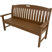 Avalon All-Weather 60 In. Porch Bench in Teak - HVNB60TE