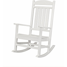 All-Weather Pineapple Cay Porch Rocker in White - HVR100WH