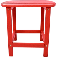 All-Weather Side Table in Sunset Red - HVSBT18SR