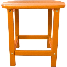 All-Weather Side Table in Tangerine - HVSBT18TA