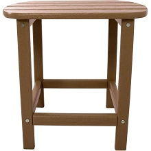 All-Weather Side Table in Teak - HVSBT18TE