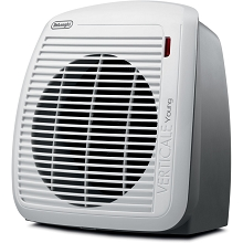 Delonghi 1500-Watt Fan Heater in Gray with White Face Plate - HVY1030