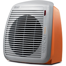Delonghi 1500-Watt Fan Heater in Orange with Gray Face Plate - HVY1030OR