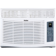 Haier 8,000 BTU 115V Window-Mounted Air Conditioner and Magnetic Remote with Braille - HWE08XCR