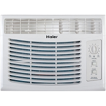 Haier 5,000 BTU 115V Window-Mounted Air Conditioner with Mechanical Controls - HWF05XCR