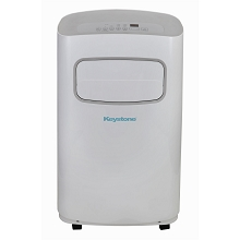 Keystone 14,000 BTU 115V Portable Air Conditioner with Remote Control in White/Gray - KSTAP14CG