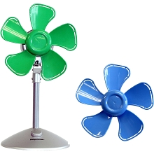 Keystone 10 In. Flower Fan with Interchangeable Heads, Blue/Green - KSTFF100ABN