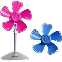 Keystone 10 In. Flower Fan with Interchangable Heads, Pink/Blue - KSTFF100AKB