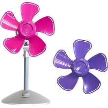 Keystone 10 In. Flower Fan with Interchangable Heads, Purple/Pink - KSTFF100APK