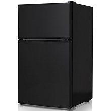 Keystone Energy Star 3.1 Cu. Ft. Compact 2-Door Refrigerator/Freezer in Black - KSTRC312CB