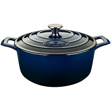La Cuisine PRO Round 3.7 Qt. Cast Iron Casserole with Enamel Finish in Blue - LC 5170MB