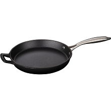 La Cuisine 10 In. Cast Iron Fry Pan with Enamel Finish in Black - LC 7340