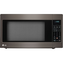 LG 2.0 Cu. Ft. 1200W Countertop Microwave Oven with TrueCook Plus and EasyClean Interior in Black Stainless Steel - LCRT2010BD