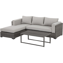 Lenox Hill 3PC Outdoor Sectional Set - LENOXHILL3PC-GRY