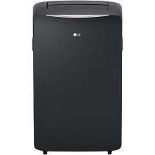 LG 115V Portable Air Conditioner with Remote Control in Graphite Gray for Rooms up to 400-Sq. Ft. - LP1417GSR