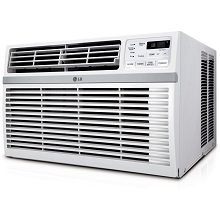 LG 8,000 BTU 115V Window-Mounted Air Conditioner with Remote Control -LW8016ER