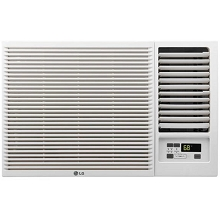 LG 7,500 BTU 115V Window-Mounted Air Conditioner with 3,850 BTU Supplemental Heat Function - LW8016HR