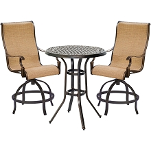 Manor 3PC High Dining Set - MANDN3PC-BR