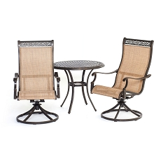 Manor 3PC Bistro Dining Set - MANDN3PCSW-BS