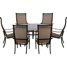Hanover Manor 7-Piece Dining Set with Six Dining Chairs and a 60 In. Cast-top Dining Table - MANDN7PCRD