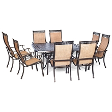Manor 9PC Dinning Set with 60-In. Square Table - MANDN9PCSQ