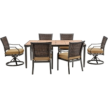 Mercer 7PC Dining Set in Country Cork - MERCDN7PCSW-TAN