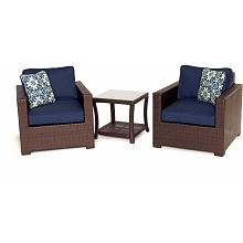 Metropolitan 3PC Chat Set in Navy Blue - METRO3PC-B-NVY