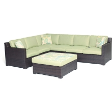 Metropolitan 5PC Sectional Set in Avocado Green - METRO5PC-B-GRN