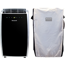 Portable Air Conditioner with Dehumidifier & Fan for Rooms Up To 450 Sq Black/Silver with Remote Control and Protective Cover - MN10CES-C