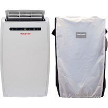Portable Air Conditioner with Dehumidifier & Fan for Rooms Up To 450 Sq. Ft. with Remote Control (White) and Protective Cover - MN10CESWW-C