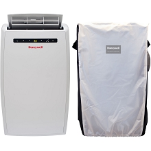 Portable Air Conditioner with Dehumidifier & Fan for Rooms Up To 550 Sq. Ft. with Remote Control and Protective Cover - MN12CESWW-CW