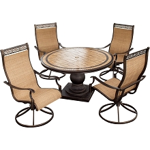 Monaco 5PC Swivel Rocker Dining Set - MONACO5PCSW