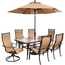 Monaco 7PC Dining Set with 9-Ft. Table Umbrella - MONACO7PCSW-SU