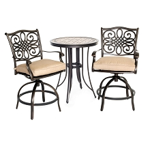 Hanover Monaco 3PC High-Dining Bistro Set - MONDN3PCSW-BR
