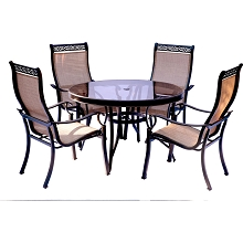 Monaco 5PC Dining Set with Glass Table - MONDN5PCG