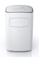 Midea EasyCool 10,000 BTU Portable Air Conditioner with FollowMe Remote Control in White/Silver for Rooms up to 200-Sq. Ft., MPF10CR71-A