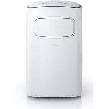 Midea EasyCool Portable Air Conditioner with FollowMe Remote Control in White/Silver for Rooms up to 400-Sq. Ft. - MPF14CR71-A
