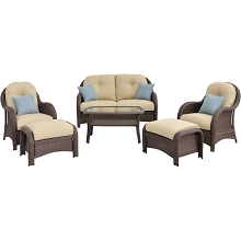 Newport 6PC Seating Set in Cream - NEWPORT6PC