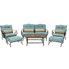 Oceana 6PC Seating Set in Ocean Blue - OCEANA6PC