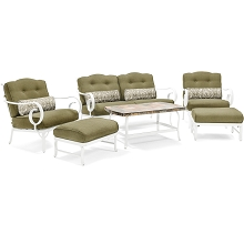 Oceana 6PC Patio Seating Set in Vintage Meadow - OCECST6PC-MDW