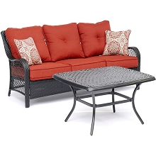 Hanover Orleans 2-Piece Patio Set in Autumn Berry - ORL2PCCT-BRY