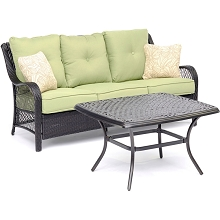 Hanover Orleans 2-Piece Patio Set in Avocado Green - ORL2PCCT-GRN