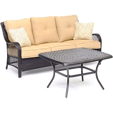 Hanover Orleans 2-Piece Patio Set in Sahara Sand - ORL2PCCT-TAN
